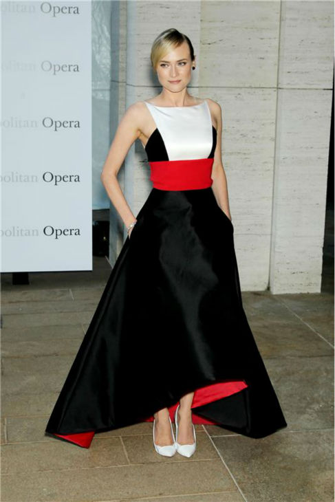 Diane Kruger attends the New York Metropolitan Opera's season opening performance Of Tchaikovsky's 'Eugene Onegin' on Sept. 23, 2013.