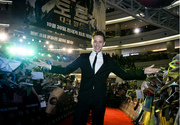 Tom Hiddleston appears at a 'Thor: The