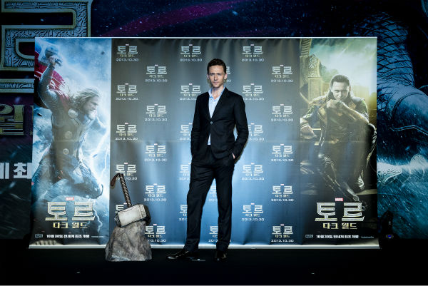 "<div class=""meta ""><span class=""caption-text "">Tom Hiddleston appears on stage at a 'Thor: The Dark World' fan event in Seoul, South Korea on Oct. 14, 2013. (Ho Chang / Walt Disney Studios)</span></div>"