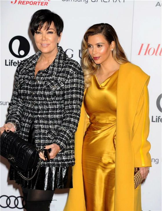 Kim Kardashian and mother Kris Jenner attend the Hollywood Reporter&#39;s 2013 Women In Entertainment Breakfast in Beverly Hills, California on Dec. 11, 2013. <span class=meta>(Daniel Robertson &#47; Startraksphoto.com)</span>