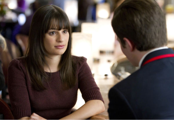 Lea Michele appears in a scene from 'Glee.'