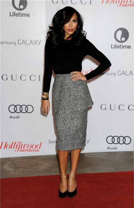 "<div class=""meta ""><span class=""caption-text "">Naya Rivera ('Glee') attends the Hollywood Reporter's 2013 Women In Entertainment Breakfast in Beverly Hills, California on Dec. 11, 2013. (Daniel Robertson / Startraksphoto.com)</span></div>"