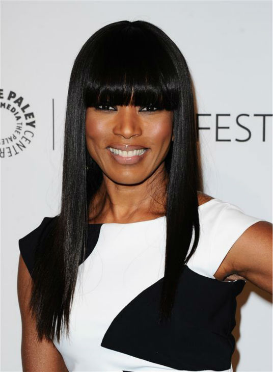 Angela Bassett appears at a PaleyFest event celebrating the FX series &#39;American Horror Story,&#39; presented by the Paley Center for Media, at the Dolby Theatre in Hollywood, California on March 28, 2014. She is wearing a black and white La Petite Robe by Chiara Boni cocktail dress. <span class=meta>(Sara De Boer &#47; Startraksphoto.com)</span>