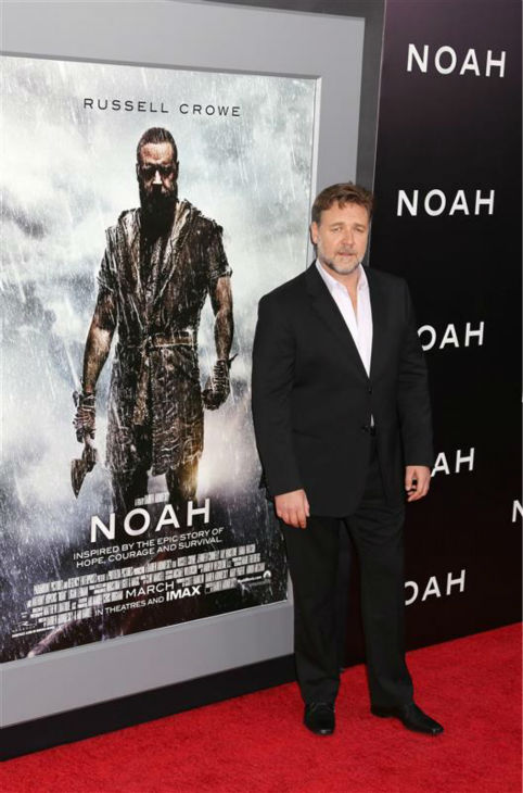 Russell Crowe appears at the premiere of &#39;Noah&#39; in New York on March 26, 2014. He plays the title character in Darren Aronofsky&#39;s movie. <span class=meta>(Abaca &#47; Startraksphoto.com)</span>