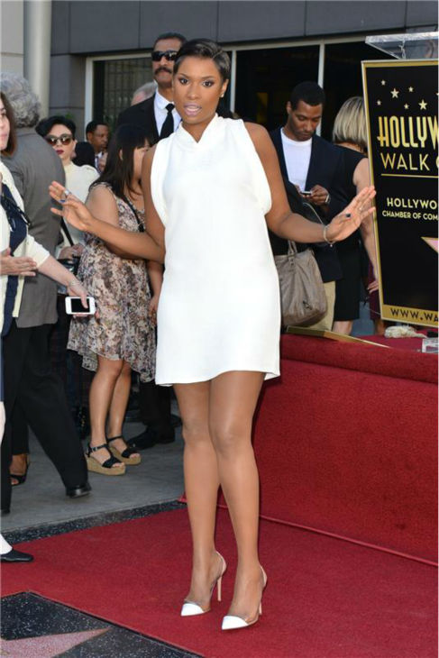 Jennifer Hudson poses on her new star on the Hollywood Walk of Fame on Nov. 13, 2013. <span class=meta>(Tony DiMaio &#47; Startraksphoto.com)</span>