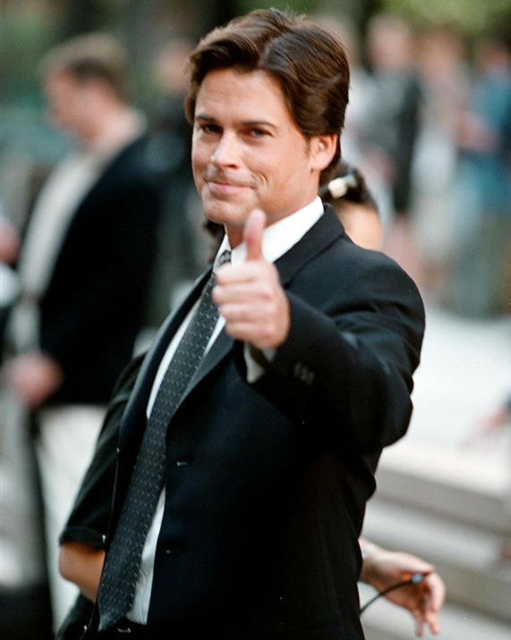 The time Rob Lowe was incredibly good-looking while filming an episode of &#39;The West Wing&#39; in New York on Sept. 16, 2000. <span class=meta>(Alex Oliveira &#47; Startraksphoto.com)</span>