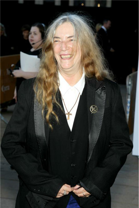 Legendary rock singer Patti Smith attends the New York Metropolitan Opera's season opening performance Of Tchaikovsky's 'Eugene Onegin' on Sept. 23, 2013.