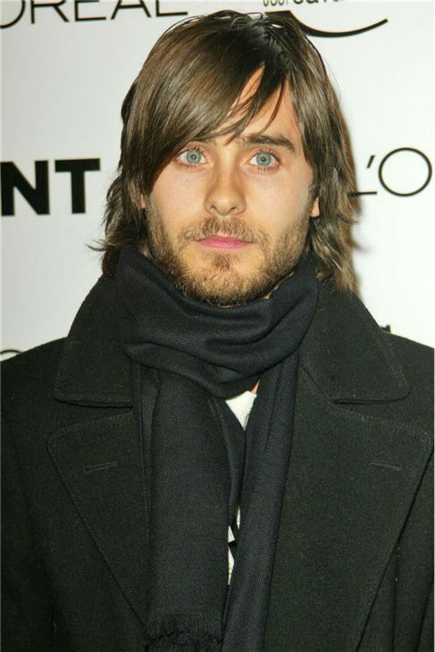 "<div class=""meta ""><span class=""caption-text "">The 'Scruffy-Look' stare: Jared Leto appears at Flaunt Magazine's 6-year anniversary and holiday toy frive, benefiting Para Los Ninos, in Los Angeles on Dec. 10, 2004. (Marty Hause / Startraksphoto.com)</span></div>"