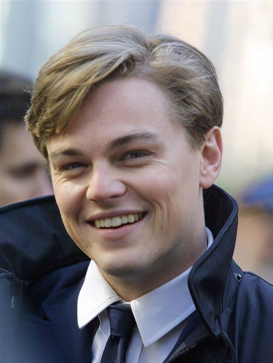 The &#39;You-Caught-Me-Smiling&#39; stare: Leonardo DiCaprio appears at the premiere of &#39;Gangs of New York&#39; in New York on Dec. 31, 2002. <span class=meta>(Startraksphoto.com)</span>