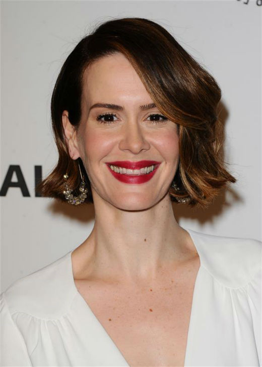 Sarah Paulson appears at a PaleyFest event celebrating the FX series &#39;American Horror Story: Coven,&#39; presented by the Paley Center for Media, at the Dolby Theatre in Hollywood, California on March 28, 2014. She is wearing a Marc Jacobs dress. <span class=meta>(Sara De Boer &#47; Startraksphoto.com)</span>