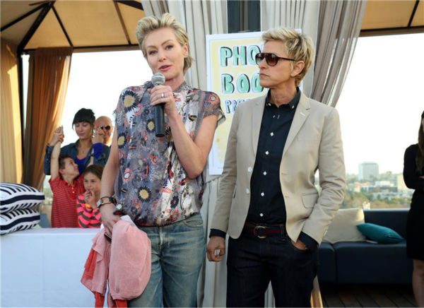 "<div class=""meta image-caption""><div class=""origin-logo origin-image ""><span></span></div><span class=""caption-text"">Ellen DeGeneres and wife Portia De Rossi appear at the Saving SPOT! benefit at the Thompson Beverly Hills hotel in California on Oct. 13, 2013. Saving SPOT! is a non-profit dedicated to rescuing dogs from high-risk environments and provides them with caring owners. (Sara Jaye Weiss / StartraksPhoto.com)</span></div>"