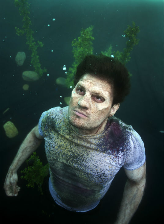 "<div class=""meta ""><span class=""caption-text "">Enver Gjokaj (Pete, now a Walker) films a scene underwater on the set of AMC's 'The Walking Dead' while filming episode 5 of season 4, titled 'Dead Weight,' which aired on Nov. 24, 2013. (Gene Page / AMC)</span></div>"