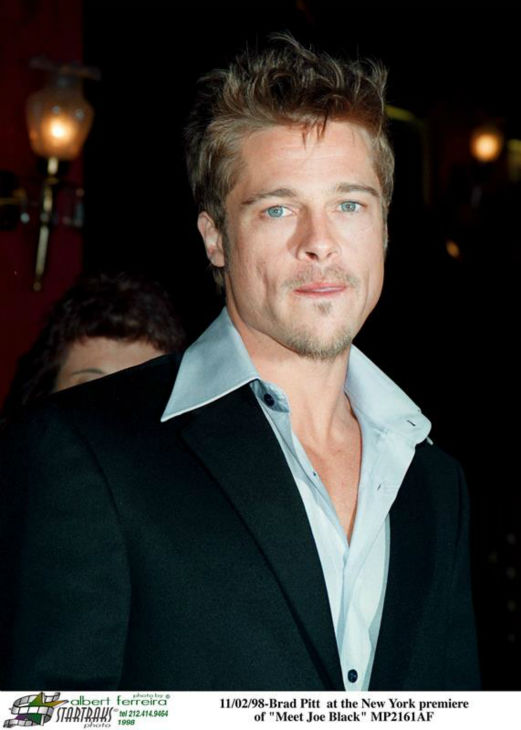 "<div class=""meta ""><span class=""caption-text "">Brad Pitt appears at the premiere of 'Meet Joe Black' in New York on Nov. 2, 1998. (Startraksphoto.com)</span></div>"