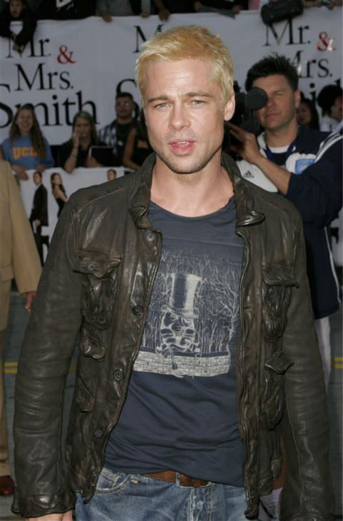 Brad Pitt attends the premiere of &#39;Mr. and Mrs. Smith&#39; in Westwood, near Los Angeles, on June 7, 2005. <span class=meta>(Bill Davila &#47; Startraksphoto.com)</span>