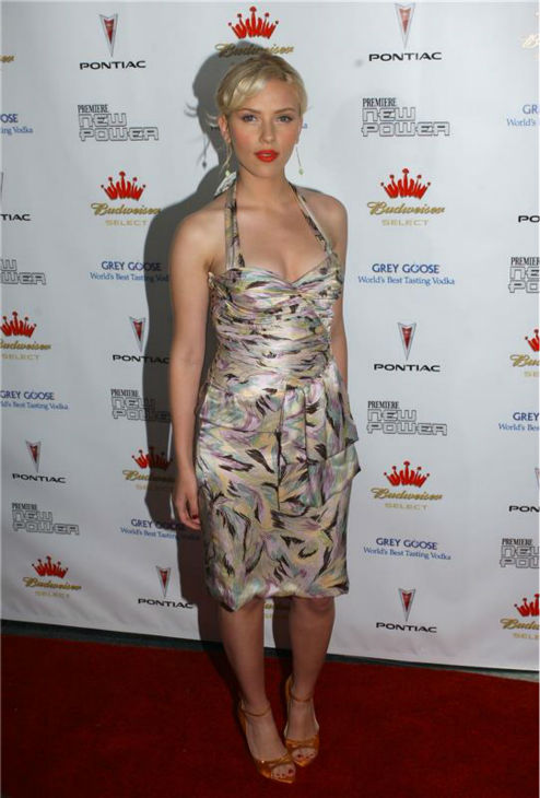 Scarlett Johansson attends Premiere magazine&#39;s The New Power event at the Hollywood Roosevelt Hotel in Los Angeles on June 15, 2005. <span class=meta>(Albert L. Ortega &#47; Startraksphoto.com)</span>