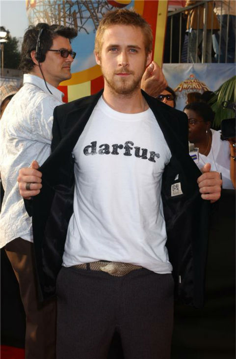 The 'What-Actually-Matters-To-Me' stare: Ryan Gosling appears at the 2005 MTV Movie Awards in Los Angeles on June 4, 2005.