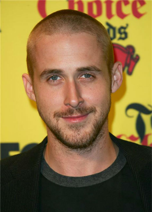 The 'It's-Breezy-On-Top' stare: Ryan Gosling appears at FOX's Teen Choice Awards in Universal City, California on Aug. 14, 2005.