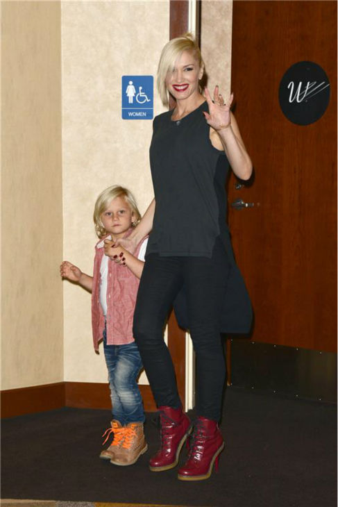 Gwen Stefani and son Zuma attend the premiere of the Disney Junior Live On Tour! Pirate and Princess Adventure event in Hollywood, California on Sept. 29, 2013. <span class=meta>(Tony DiMaio &#47; Startraksphoto.com)</span>