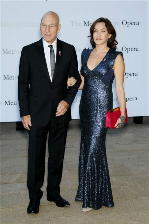 Patrick Stewart and new wife Sunny Ozell attend the New York Metropolitan Opera&#39;s season opening performance Of Tchaikovsky&#39;s &#39;Eugene Onegin&#39; on Sept. 23, 2013. <span class=meta>(Marion Curtis &#47; Startraksphoto.com)</span>