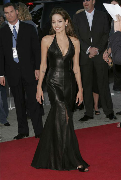 Angelina Jolie attends the premiere of 'Mr. and Mrs. Smith' in Westwood, California on June 7, 2005.