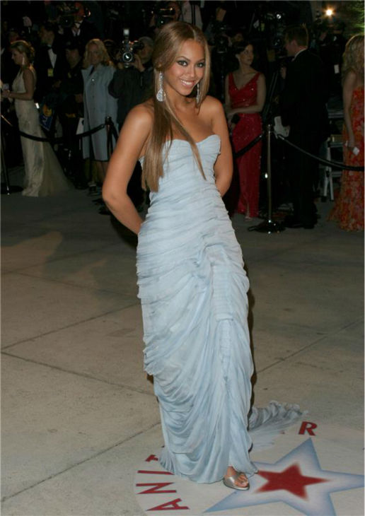 Beyonce attends the Vanity Fair Oscar party following the 2005 Oscars on Feb. 27, 2005.