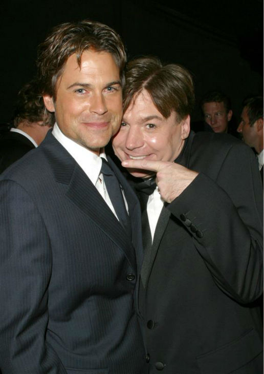 "<div class=""meta image-caption""><div class=""origin-logo origin-image ""><span></span></div><span class=""caption-text"">YEAH BABY! The time Mike Myers knew his 'Austin Powers' co-star Rob Lowe was incredibly good-looking, at HBO's 2003 Emmy Awards after party in Beverly Hills, California on Sept. 21, 2003. (Michael Williams / Startraksphoto.com)</span></div>"