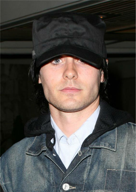 "<div class=""meta ""><span class=""caption-text "">The 'Just-Barely' stare: Jared Leto appears at a launch party forDom Perignon Rose Vintage 1996 champagne by Karl Lagerfeld in Beverly Hills, California on June 2, 2006. (Michael Williams / Startraksphoto.com)</span></div>"