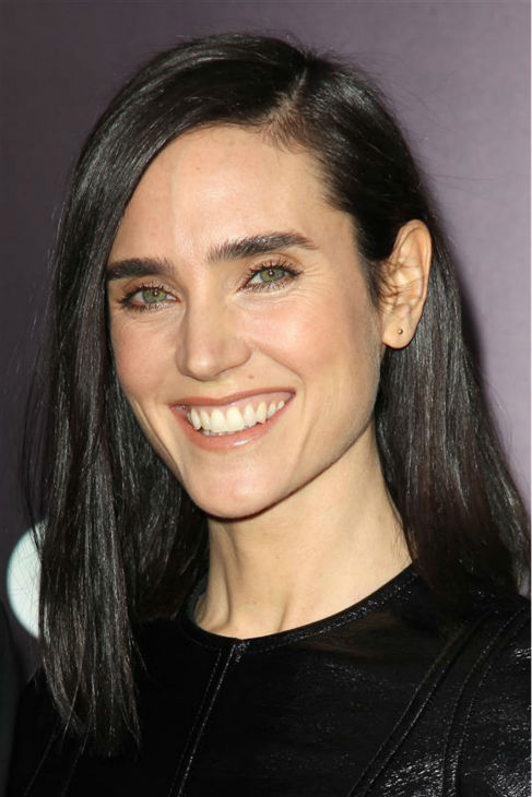 Jennifer Connelly appears at the premiere of &#39;Noah&#39; in New York on March 26, 2014. The actress, who is wearing a custom-made Louis Vuitton leather and yellow tweed mini-dress, plays Noah&#39;s wife, Naameh, in Darren Aronofsky&#39;s movie. <span class=meta>(Kristina Bumphrey &#47; Startraksphoto.com)</span>