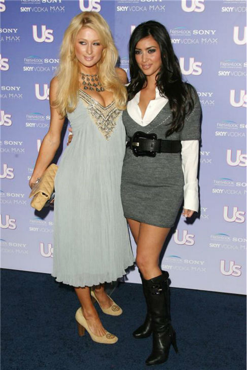 Kim Kardashian and Paris Hilton attend US Weekly's Hot Hollywood Fresh 15 event celebrating Hollywoods hottest young stars in Los Angeles on Sept. 21, 2006.