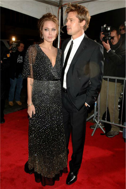 Angelina Jolie and Brad Pitt attend the premiere of 'The Good Shepherd' in New York on Dec. 11, 2006.