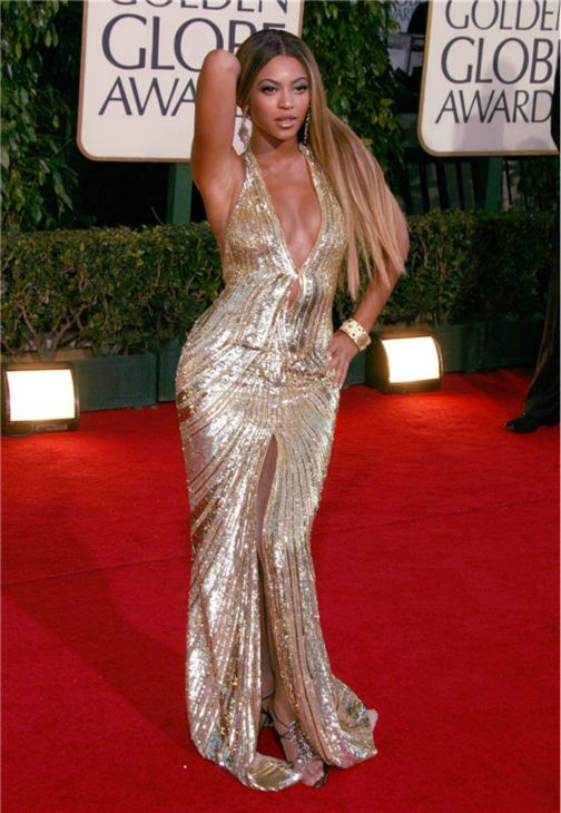 Beyonce walks the red carpet at the 2007 Golden Globe Awarrds at the Beverly Hilton in Beverly Hills, California on Jan. 15, 2007.