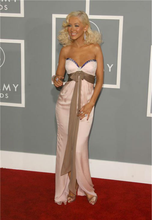 Christina Aguilera walks the red carpet at the 2007 Grammy Awards in Los Angeles on Feb. 11, 2007. <span class=meta>(Jen Lowery &#47; Startraksphoto.com)</span>