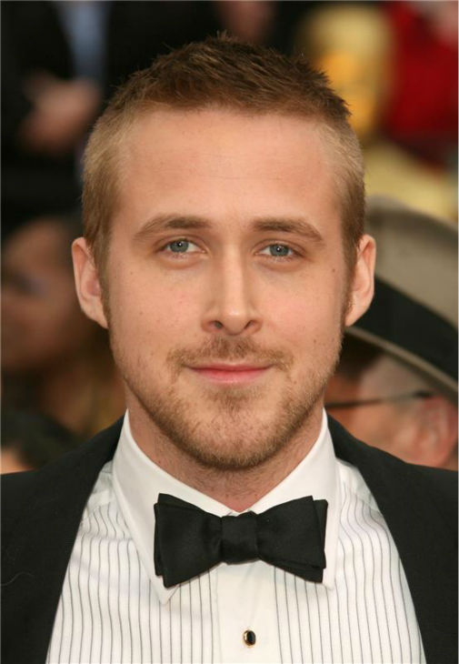 The 'Oscar-Ready' stare: Ryan Gosling appears on the red carpet at the 2007 Oscars in Hollywood, California on Feb. 25, 2007.
