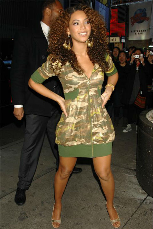 Beyonce arrives at the studio of MTV's 'Total Request Live' ('TRL') in New York on Feb. 28, 2007.