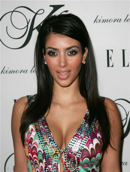 Kim Kardashian attends Kimora Lee Simmons&#39;shigh-end collection launch event during L.A. Fashion Week  in Los Angeles on March 23, 2007. <span class=meta>(Andy Fossum &#47; Startraksphoto.com)</span>