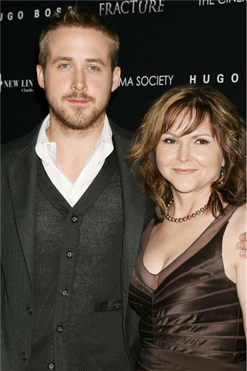 The 'Proud Son' stare: Ryan Gosling appears with his mother, Donna, at the premiere of 'Fracture' in New York on April 17, 2007.