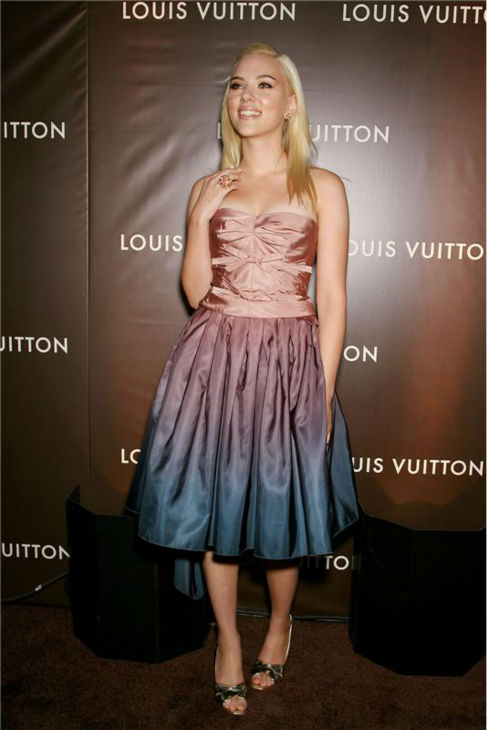 "<div class=""meta ""><span class=""caption-text "">Scarlett Johansson attends Louis Vuitton's party celebrating the launch of its new LOVE collection in New York on May 3, 2007. (Marion Curtis / Startraksphoto.com)</span></div>"