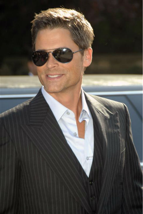"<div class=""meta ""><span class=""caption-text "">The time Rob Lowe was incredibly good looking in a pair of cool shades while arriving at the ABC Upfronts presentation in New York on May 15, 2007. (Debra L. Rothenberg / Startraksphoto.com)</span></div>"