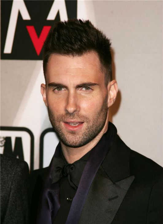 The &#39;It&#39;s-My-Party&#39; stare: Adam Levine attends a launch party for his rock group Maroon 5&#39;s album &#39;It Won&#39;t Be Soon Before Long&#39; in West Hollywood, California on May 22, 2007. <span class=meta>(Andy Fossum &#47; Startraksphoto.com)</span>