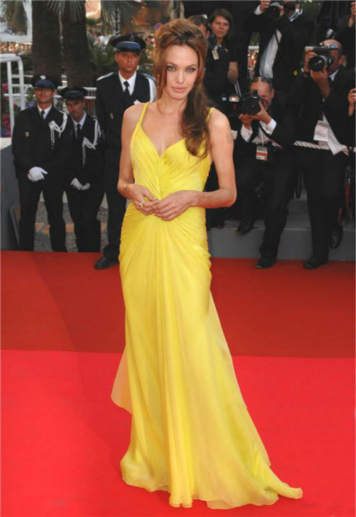 Angelina Jolie walks the red carpet at the premiere of &#39;Oceans Thirteen&#39; at the Cannes Film Festival in Cannes, France on May 24, 2007. <span class=meta>(Nick Sadler &#47; Startraksphoto.com)</span>