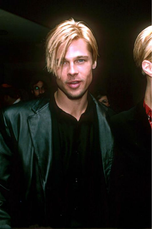 Brad Pitt appears at the premiere of 'The Devil's Own' in Los Angeles on March 13, 1997.