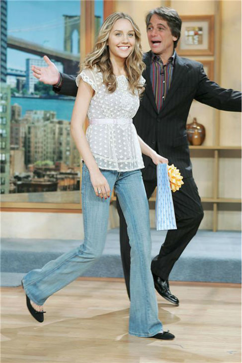Amanda Bynes appears with Tony Danza on 'The Tony Danza Show' in New York on Oct. 7, 2004.