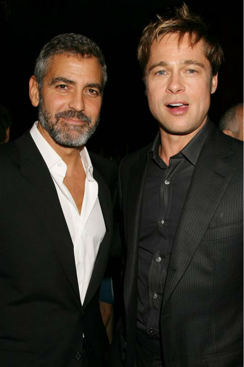 George Clooney and Brad Pitt appear at the premiere of &#39;Michael Clayton&#39; in New York on Sept. 25, 2007. <span class=meta>(Dave Allocca &#47; Startraksphoto.com)</span>