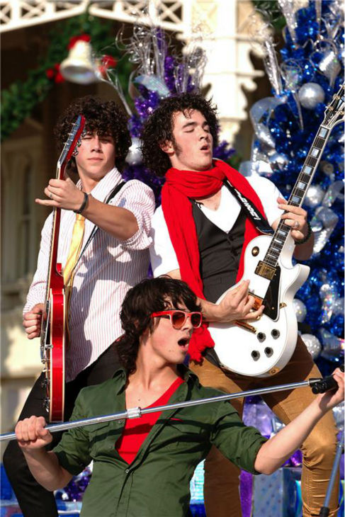 The time the Jonas Brothers performed at Magic Kingdom at the Walt Disney World Resory in Lake Buena Vista, Florida during the annual Disney Christmas Day parade on Dec. 1, 2007. <span class=meta>(Mark Ashman &#47; Startraksphoto.com)</span>