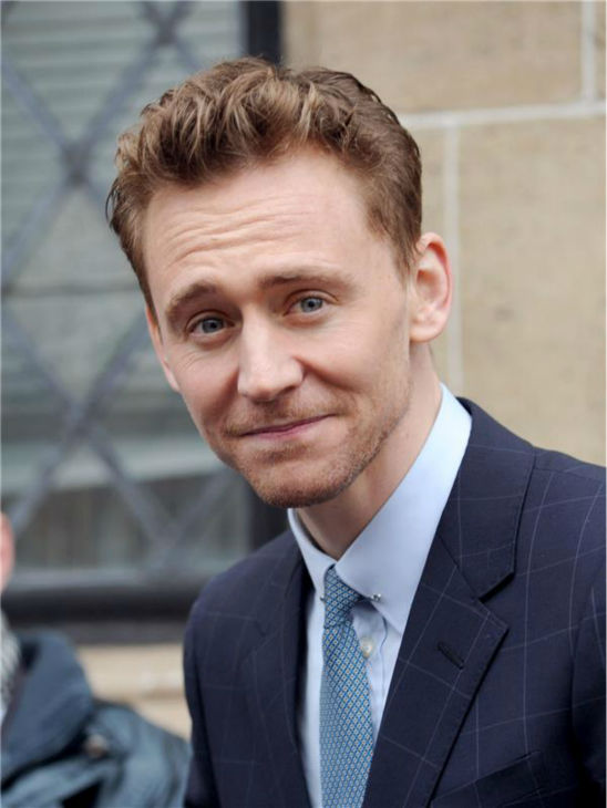 Tom Hiddleston is seen outside ITV Studios in London on April 11, 2013.