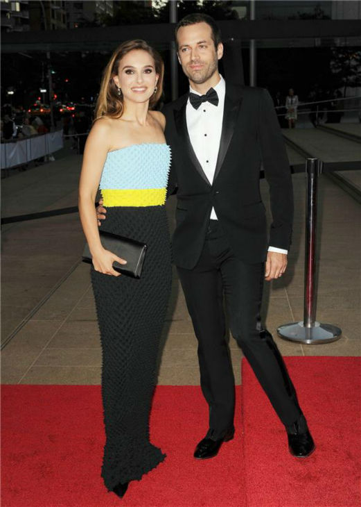 Natalie Portman and husband Benjamin Millepied attend the New York City Ballet 2013 Fall Gala at the David H. Koch Theater at Lincoln Center in New York on Sept. 19, 2013. Portman is wearing a Christian Dior Fall 2013 Haute Couture gown. She is a spokesmodel for the luxury brand. <span class=meta>(Humberto Carreno &#47; Startraksphotos.com)</span>