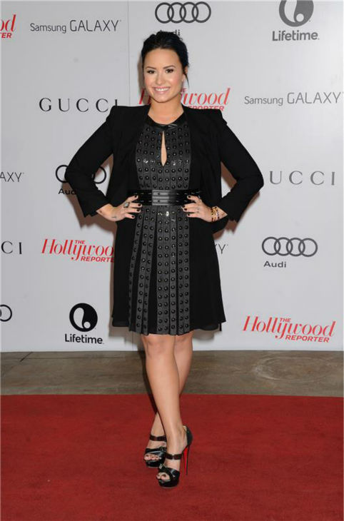 Demi Lovato attends the Hollywood Reporter's 2013 Women In Entertainment Breakfast in Beverly Hills, California on Dec. 11, 2013.