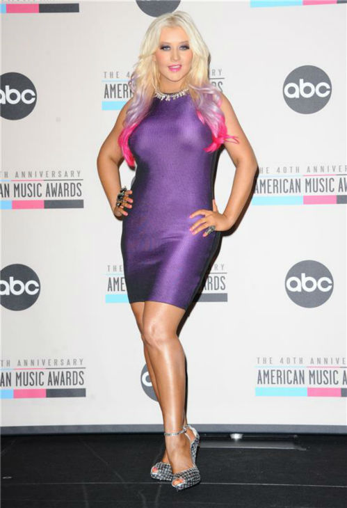"<div class=""meta image-caption""><div class=""origin-logo origin-image ""><span></span></div><span class=""caption-text"">Christina Aguilera poses for photos at an event in which she announced the nominees for the 2012 American Music Awards in Los Angeles on Oct. 9, 2012. (Sara De Boer / Startraksphoto.com)</span></div>"