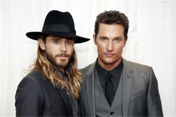 Jared Leto and Matthew McConaughey appear at the premiere of &#39;Dallas Buyers Club&#39; in London on Jan. 39, 2014. They are nominated for their first Oscars for their roles as HIV-positive patients. <span class=meta>(Jonathan Brady &#47; Abaca &#47; Startraksphoto.com)</span>