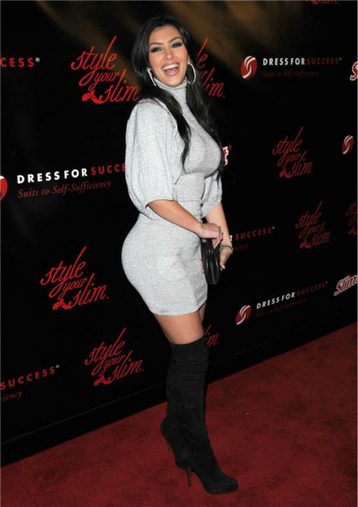"<div class=""meta ""><span class=""caption-text "">Kim Kardashian appears at the Style Your Slim fashion show sponsored by Slim Fast, hosted by Rachel Hunter to benefit Dress For Success, in Hollywood, California on Jan. 8, 2008. (Michael Williams / Startraksphoto.com)</span></div>"